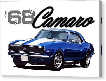 1968 Camaro Canvas Print by Paul Kuras