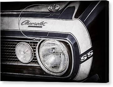 1968 Chevrolet Yenko Super Camaro Hood Emblem -1785ac Canvas Print by Jill Reger