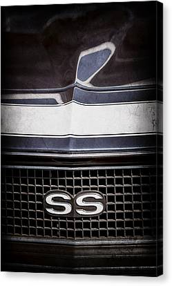 1968 Chevrolet Yenko Super Camaro Ss Grille Emblem -1745ac Canvas Print by Jill Reger