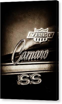1968 Chevrolet Yenko Super Camaro Ss Side Emblem -1762s Canvas Print by Jill Reger
