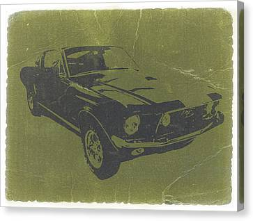 1968 Ford Mustang Canvas Print by Naxart Studio