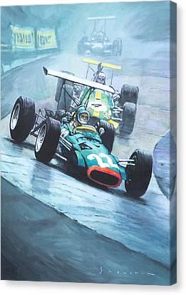 1968 German Gp Nurburgring  Canvas Print by Yuriy Shevchuk