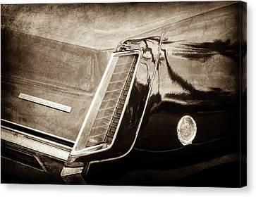 1969 Cadillac Eldorado Taillight Emblem -0318s Canvas Print by Jill Reger
