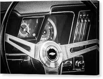1969 Chevrolet Camaro Steering Wheel Emblem -0346cbw Canvas Print by Jill Reger