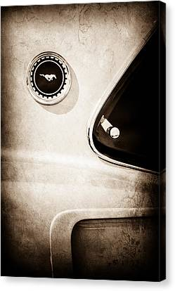 1969 Ford Mustang Mach I Side Emblem -0456s Canvas Print by Jill Reger