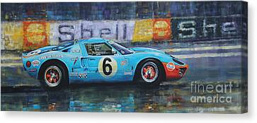 1969 Le Mans 24 Ford Gt40 Jacky Ickx Jackie Oliver Winner Canvas Print by Yuriy Shevchuk
