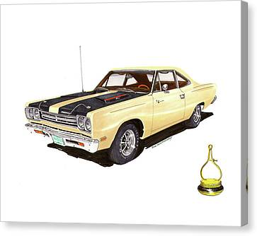 1969 Plymouth Road Runner 383 Canvas Print by Jack Pumphrey