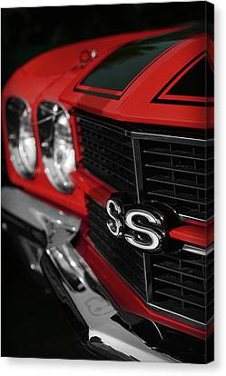 1970 Chevelle Ss396 Ss 396 Red Canvas Print by Gordon Dean II