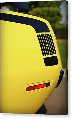 1970 Plymouth Hemi Cuda Drivers Rear Hockey Stripe Canvas Print by Gordon Dean II