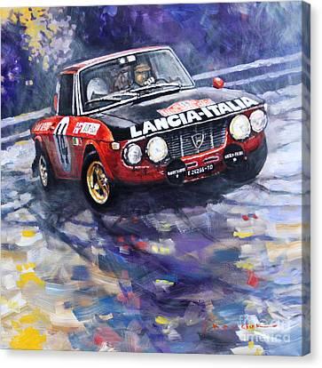 1972 Rallye Monte Carlo Lancia Fulvia 1600hf Munari Mannucci Winner Canvas Print by Yuriy Shevchuk