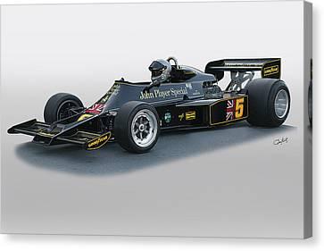 1976 Lotus 77 Vintage F1 Racecar Canvas Print by Dave Koontz