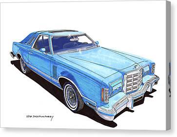 1979 Ford Thunderbird Canvas Print by Jack Pumphrey