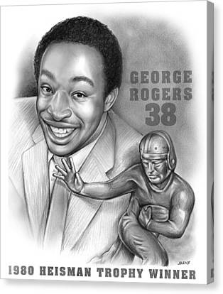 1980 Heisman Winner Canvas Print by Greg Joens