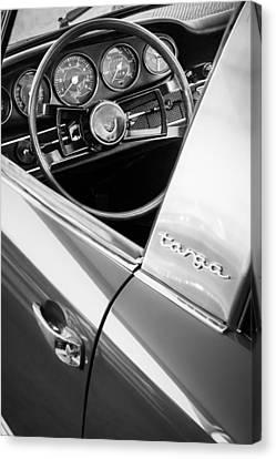 1981 Porsche C928 Steering Wheel -0265bw Canvas Print by Jill Reger
