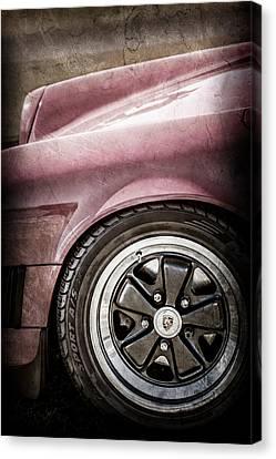 1984 Porsche 911 Carrera Wheel Emblem -2270ac Canvas Print by Jill Reger