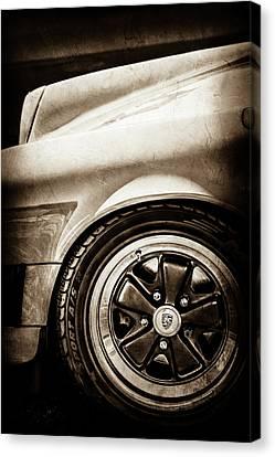 1984 Porsche 911 Carrera Wheel Emblem -2270s Canvas Print by Jill Reger