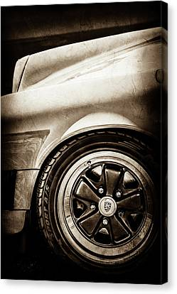 1984 Porsche 911 Carrera Wheel Emblem -2270s Canvas Print by Jill Reger