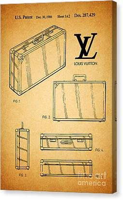 1986 Louis Vuitton Suitcase Patent 1 Canvas Print by Nishanth Gopinathan