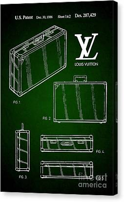 1986 Louis Vuitton Suitcase Patent 5 Canvas Print by Nishanth Gopinathan