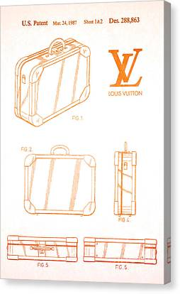 1987 Louis Vuitton Suitcase Patent 2 Canvas Print by Nishanth Gopinathan