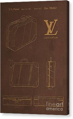 1987 Louis Vuitton Suitcase Patent 4 Canvas Print by Nishanth Gopinathan
