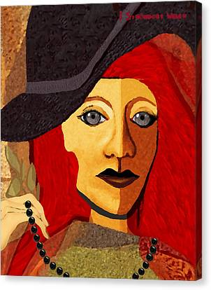 199  -  Her Sad Eyes Canvas Print by Irmgard Schoendorf Welch