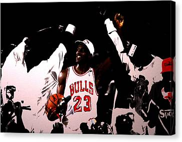 1992 Nba Finals  Canvas Print by Brian Reaves