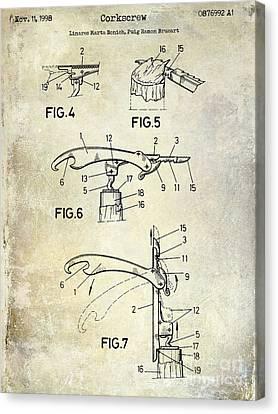 1998 Corkscrew Patent Canvas Print by Jon Neidert