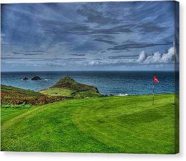 1st Green Cape Cornwall Golf Club Canvas Print by Chris Thaxter
