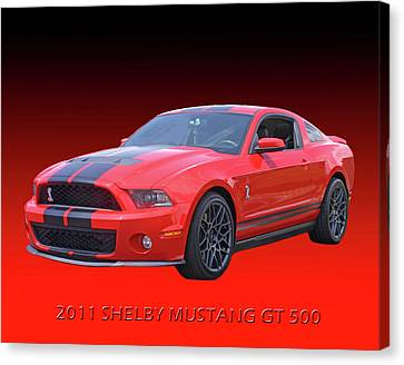2011 Shelby American Mustang Canvas Print by Jack Pumphrey