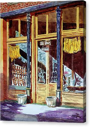 5 O'clock On Pecan St. Canvas Print by Ron Stephens