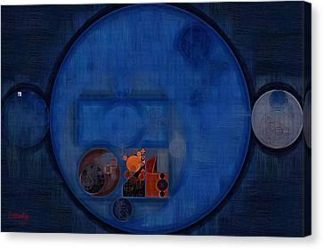 Abstract Painting - Dark Cerulean Canvas Print by Vitaliy Gladkiy