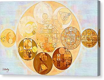 Abstract Painting - Rich Gold Canvas Print by Vitaliy Gladkiy