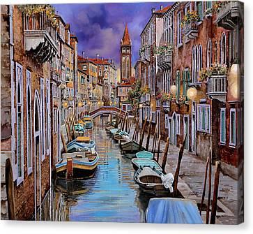 Quasi L'alba Canvas Print by Guido Borelli