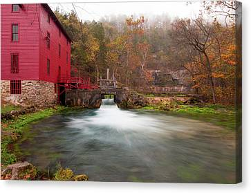 Alley Mill Canvas Print by Steve Stuller