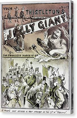 Anti-immigrant Cartoon Canvas Print by Granger