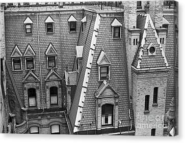 Architectural Detail Of The Dakota Apartments Canvas Print by The Phillip Harrington Collection