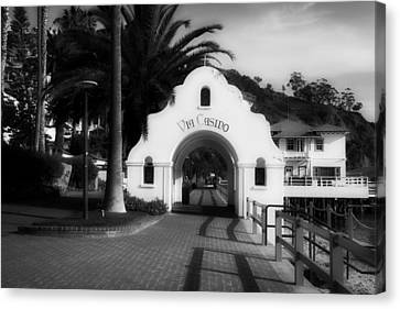 Archway Entrance To Via Casino - Catalina Island California Canvas Print by Mountain Dreams