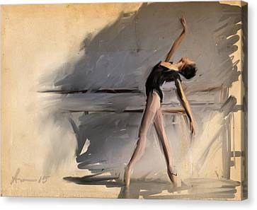 At The Barre Canvas Print by H James Hoff