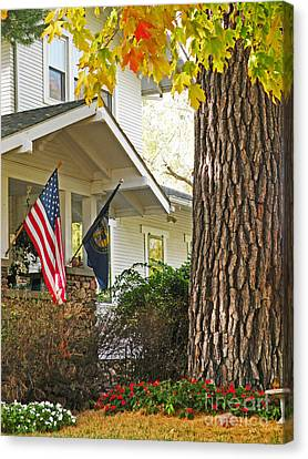 Autumn In Small Town America Canvas Print by Christine Belt