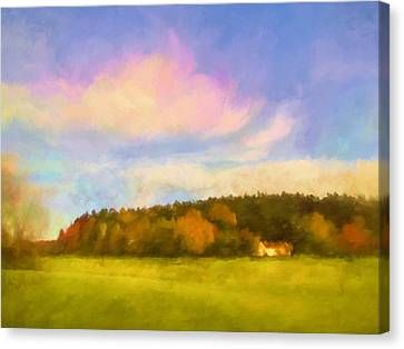 Autumn Landscape Canvas Print by Lutz Baar
