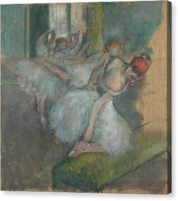 Ballet Dancers Canvas Print by MotionAge Designs