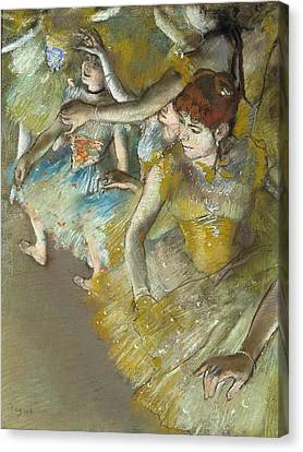 Ballet Dancers On The Stage Canvas Print by MotionAge Designs