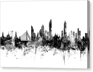 Bangkok Thailand Skyline Canvas Print by Michael Tompsett