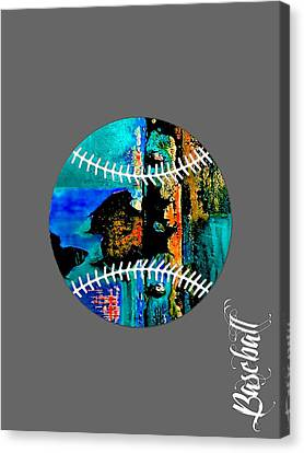 Baseball Collection Canvas Print by Marvin Blaine