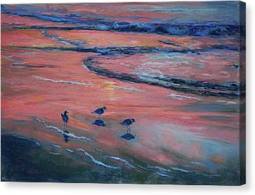 Beach Combers Canvas Print by Billie Colson