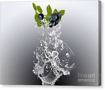 Blueberry Splash Canvas Print by Marvin Blaine