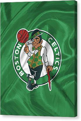 Boston Celtics Canvas Print by Afterdarkness