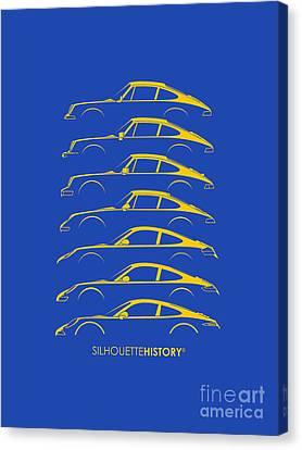 Boxer Sports Car Silhouettehistory Canvas Print by Gabor Vida