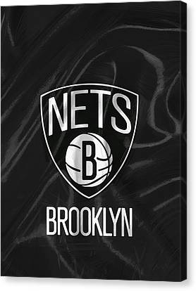 Brooklyn Nets Canvas Print by Afterdarkness